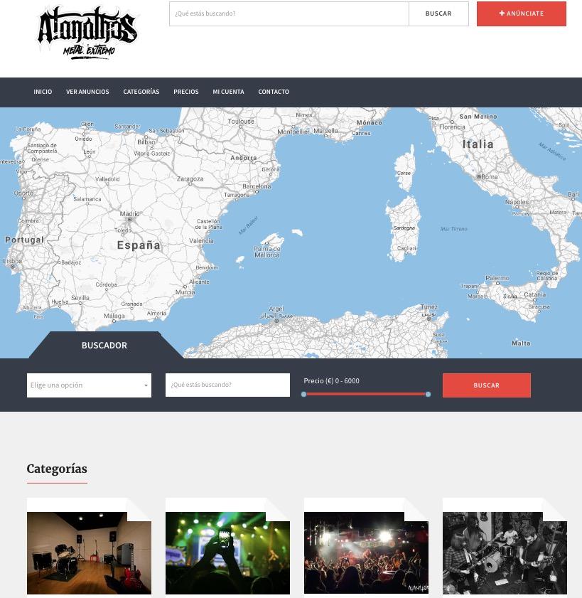 Portal de anuncios de Atanathos